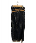 ()の古着「WASHI LAYERED SKIRT」|ブラック