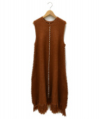 AMERI(アメリヴィンテージ)の古着「HEM FRINGE KNIT DRESS」|ブラウン