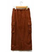 AMERI(アメリヴィンテージ)の古着「SUEDE LIKE ZIPPER SKIRT」|ブラウン