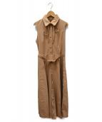 AMERI(アメリヴィンテージ)の古着「LADY ALTERNATELY DRESS」|ベージュ