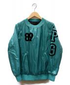 PEARLY GATES(パーリーゲイツ)の古着「リバーシブル中綿2WAYプルオーバー」|グリーン×ブラック