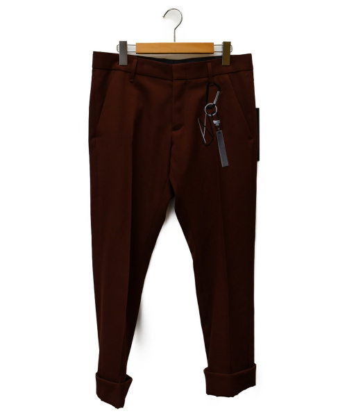 liberum arbitrium(リベルム アルビトリウム)liberum arbitrium (リベルム アルビトリウム) キーリング刺繍カフスラックス ブラウン サイズ:SIZE Mの古着・服飾アイテム