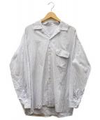 URU(ウル)の古着「STRIPE OPEN COLOR SHIRT」 サックスブルー