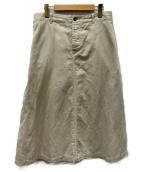 MHL(エムエイチエル)の古着「リネン混スカート」 ホワイト