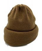 Edwina Horl(エドウィナ ホール)の古着「KNIT CAP 」|ブラウン