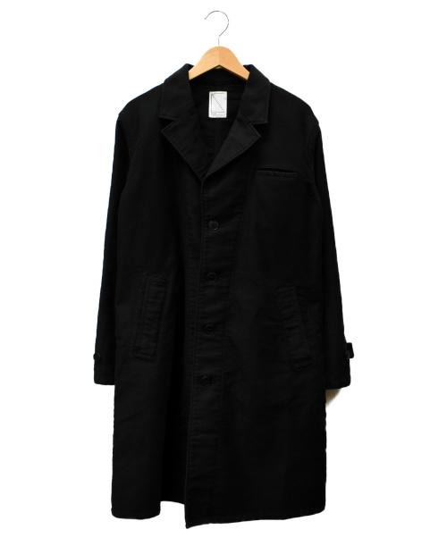 SOULIVE(ソウライブ)SOULIVE (ソウライブ) モールスキンアトリエコート ブラック サイズ:SIZE Sの古着・服飾アイテム