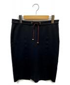 GUCCI(グッチ)の古着「ラインストラップスカート」|ネイビー