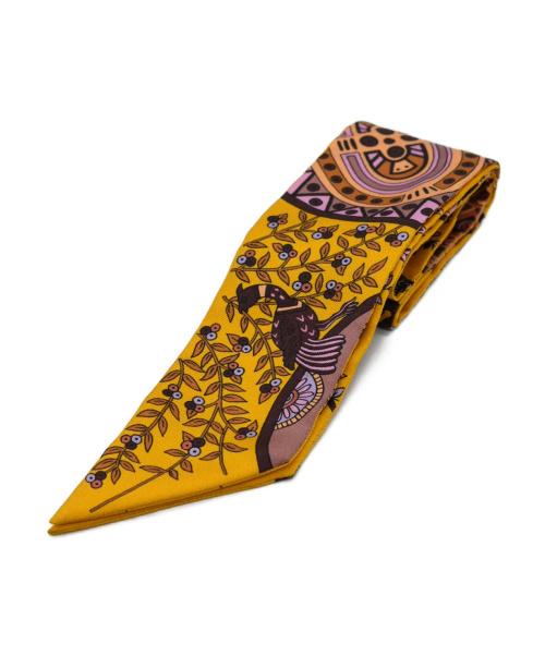 HERMES(エルメス)HERMES (エルメス) ツイリースカーフ イエローの古着・服飾アイテム