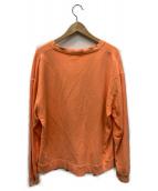 X-LARGE(エクストララージ)の古着「SHADOW LOGO CREWNECK SWEAT」|オレンジ