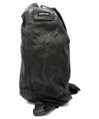 SHELLAC(シェラック)の古着「レザーボディーバッグ」 ブラック