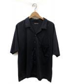 08sircus(08サーカス)の古着「silky jersey open collar shirt」 ブラック