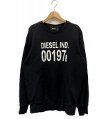 DIESEL(ディーゼル)の古着「グラフィックロゴスウェット」 ブラック