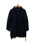 Paul Smith BLACK(ポールスミスブラック)の古着「裏地デザインダウンコート」|ネイビー
