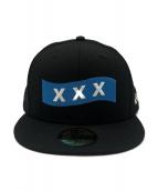 GOD SELECTION XXX(ゴットセレクショントリプルエックス)の古着「コラボキャップ」|ブラック