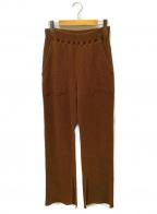 PHEENY(フィーニー)の古着「ワッフルパンツ」 ブラウン