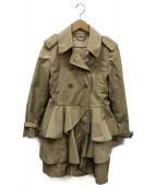 MIU MIU(ミュウミュウ)の古着「フリルショートトレンチコート」|ベージュ