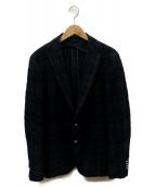 TAGLIATORE(タリアトーレ)の古着「ウールチェックジャケット」 ネイビー