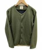 JACKMAN(ジャックマン)の古着「Jersey Collarless Jacket」 グリーン