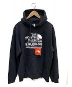 SUPREME×THE NORTH FACE(シュプリーム×ザ・ノースフェイス)の古着「Metallic Logo Hooded」|ブラック