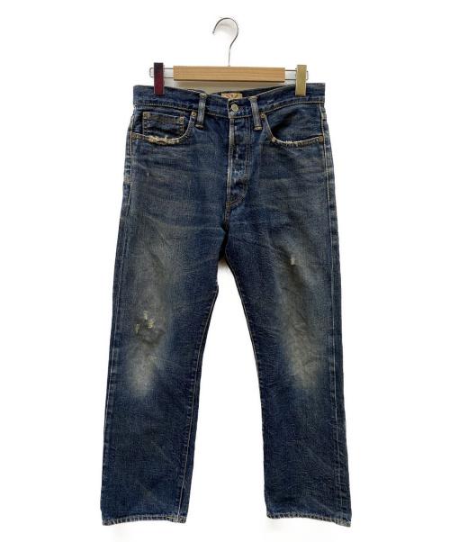 RRL(ダブルアールエル)RRL (ダブルアールエル) ダメージ加工デニムパンツ インディゴ サイズ:w31の古着・服飾アイテム