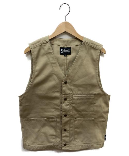 Schott(ショット)Schott (ショット) TC WORK VEST ベージュ サイズ:SIZE Lの古着・服飾アイテム