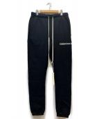 FOG ESSENTIALS(フェアオブゴット エッセンシャル)の古着「LOGO SWEAT PANTS」|ブラック
