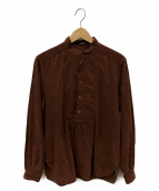 MIU MIU(ミュウミュウ)の古着「プルオーバーシャツ」 ブラウン