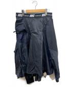 NIKE×sacai(ナイキ×サカイ)の古着「再構築ナイロンスカート」|ブラック