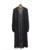 ne quittez pas(ヌキテパ)の古着「RAYRAYON GGT FRONT BUTTON DRES」|ブラック