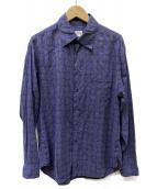 ARMANI COLLEZIONI(アルマーニコレツォーニ)の古着「総柄シャツ」|パープル