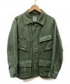 sage de cret(サージュデクレ)の古着「コットンヘンプミリタリージャケット」|グリーン