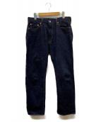 MOMOTARO JEANS(モモタロー ジーンズ)の古着「出陣ミドルストレート」|インディゴ