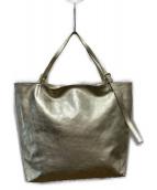 ()の古着「レザートートバッグ」 ゴールド