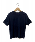 AURALEE(オーラリー)の古着「HIGH GAUGE DOUBLE CLOTH TEE」|ネイビー
