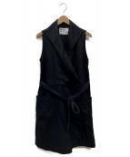 ()の古着「COTTON LINEN DRILL DRESS」|ネイビー