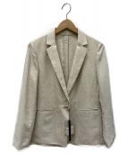 BOSCH(ボッシュ)の古着「リネン混テーラードジャケット」|ベージュ