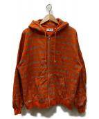 BLACKEYEPATCH(ブラックアイパッチ)の古着「Handle care zip hoodie orange」|オレンジ