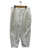 H BEAUTY&YOUTH(エイチ ビューティアンドユース)の古着「COTTON NYLON BALLOON 2P PANTS」|ホワイト