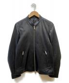 STUDIOUS(ステュディオス)の古着「ラムレザージャケット」|ブラック