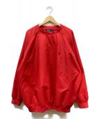 POLO RALPH LAUREN(ポロラルフローレン)の古着「プルオーバーシャツ」|レッド