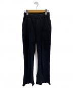 PHEENY(フィーニー)の古着「Big waffle slit pants」 グレー