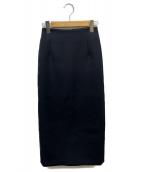 ORIVAR SAT(オリバーサット)の古着「トリプルクロスバックボタンスカート」 ブラック