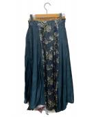 UN3D.(アンスリード)の古着「ミックスフラワーフレアスカート」|マルチカラー