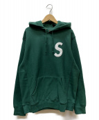 Supreme(シュプリーム)の古着「s logo hooded sweatshirt」|グリーン