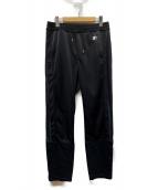 YSTRDYS TMRRW(イエスタディズトゥモロー)の古着「TAPERED LEG TRACK PANTS by STA」|ブラック