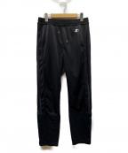 YSTRDYS TMRRW()の古着「TAPERED LEG TRACK PANTS by STA」|ブラック