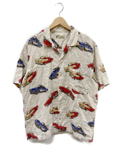 PAPAS(パパス)PAPAS (パパス) クラシックカー柄アロハシャツ ベージュ サイズ:SIZE Lの古着・服飾アイテム