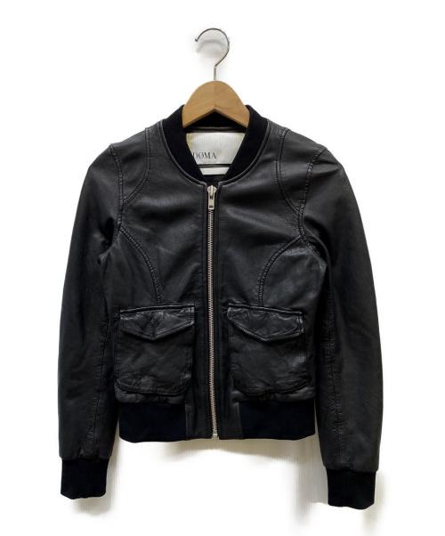 DOMA(ドマ)DOMA (ドマ) ラムレザーボンバーブルゾン ブラック サイズ:SIZE XSの古着・服飾アイテム