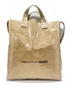 COMME des GARCONS SHIRT(コムデギャルソンシャツ)の古着「PVCペーパーショルダーバッグ」|ベージュ