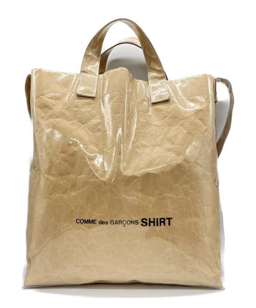 COMME des GARCONS SHIRT(コムデギャルソンシャツ)COMME des GARCONS SHIRT (コムデギャルソンシャツ) PVCペーパーショルダーバッグ ベージュの古着・服飾アイテム